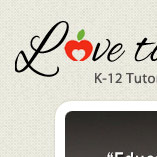 Love to Learn Tutoring Logo Design and website