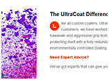 UltraCoat Powder Coating website developement and graphic design Cedarburg, WI