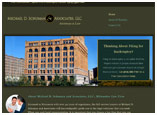 Website design for lawyer Michael Schuman
